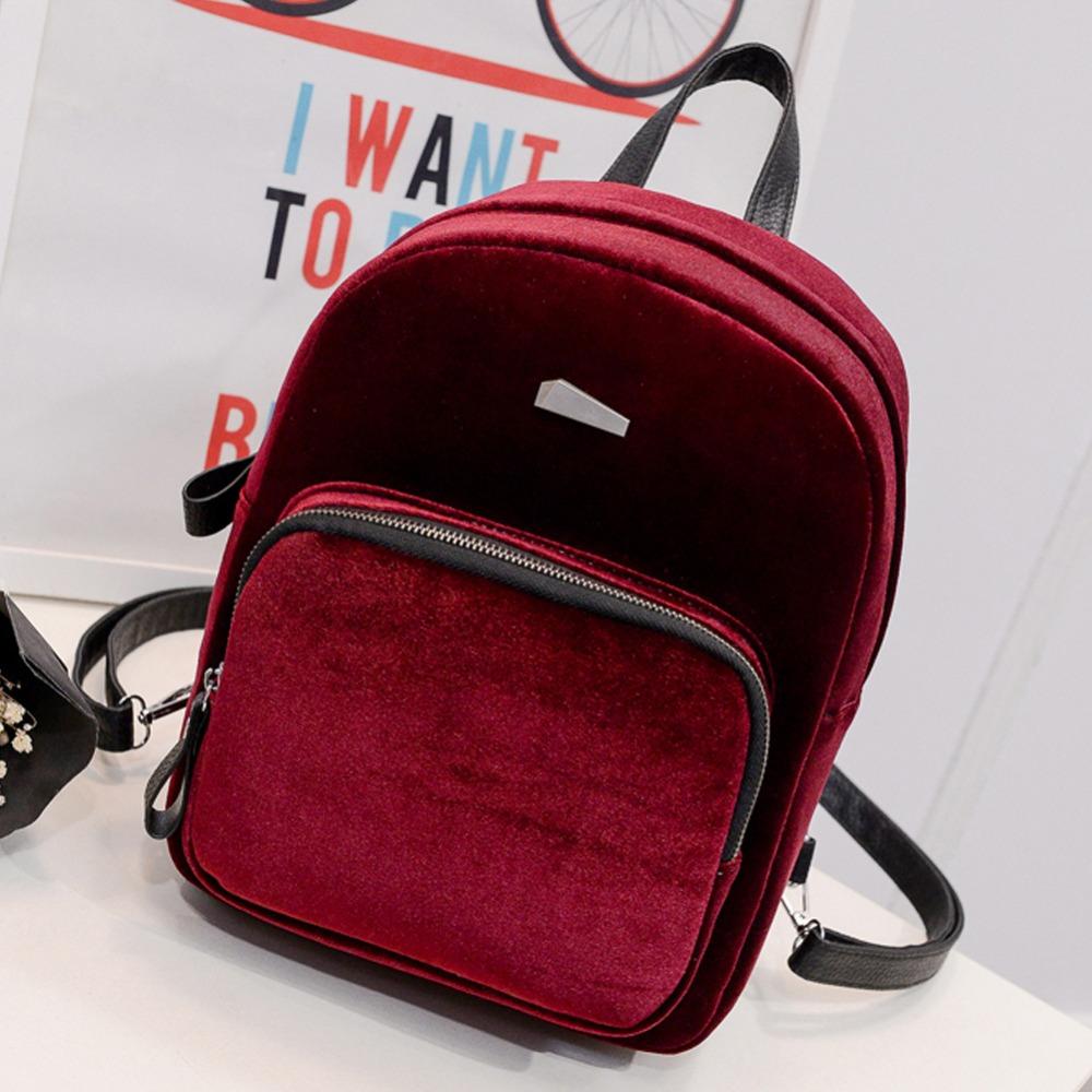 Рюкзак из красного бархата