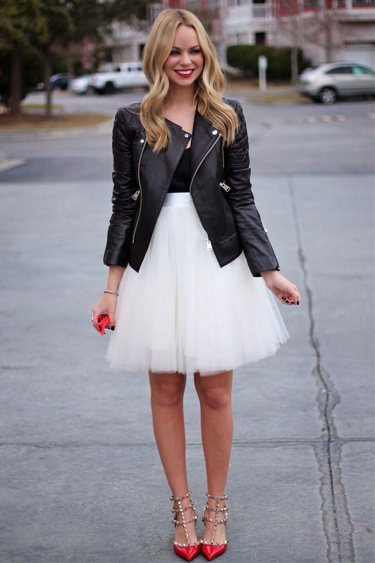 Белая юбка из органзы