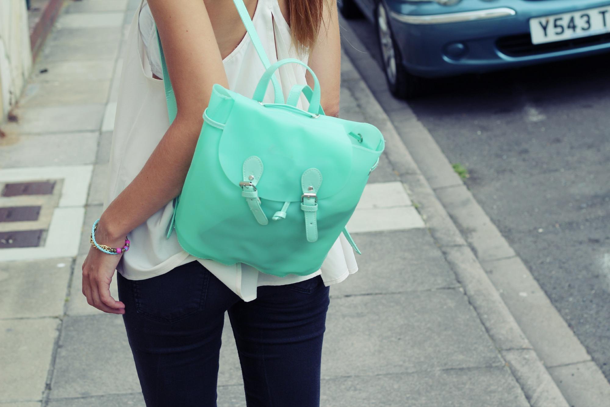 Бирюзовый рюкзак