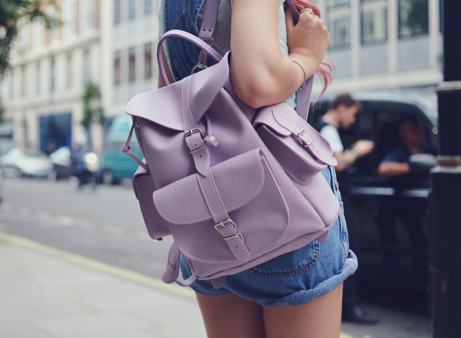 Модный кожаный рюкзак
