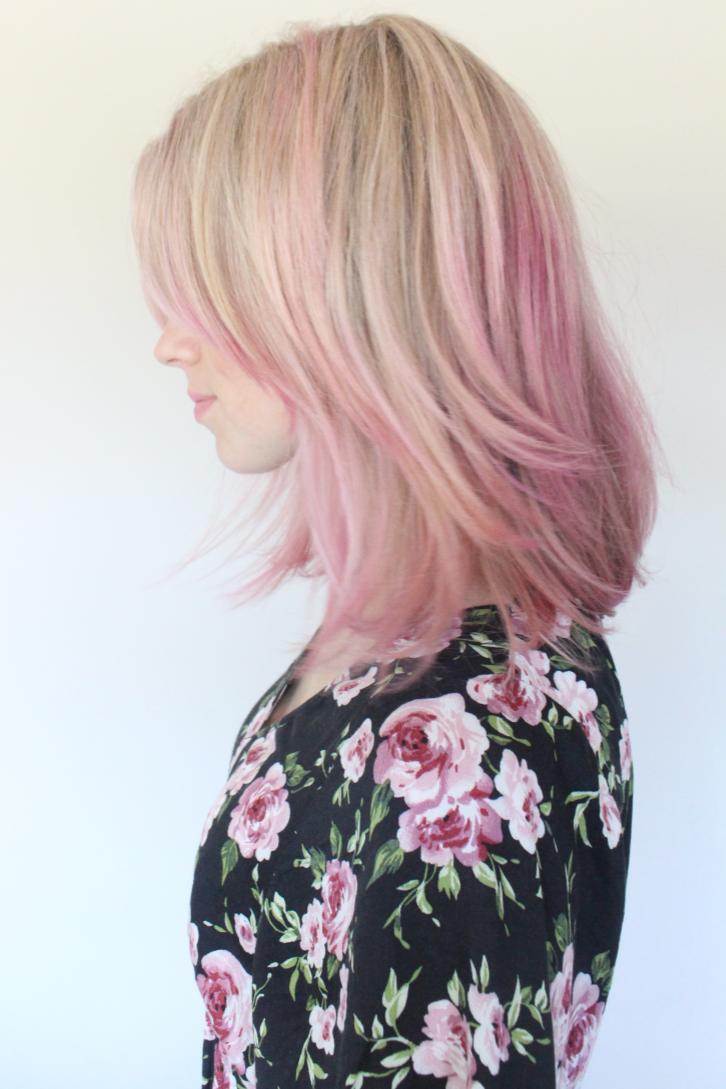 Краска розовый блонд