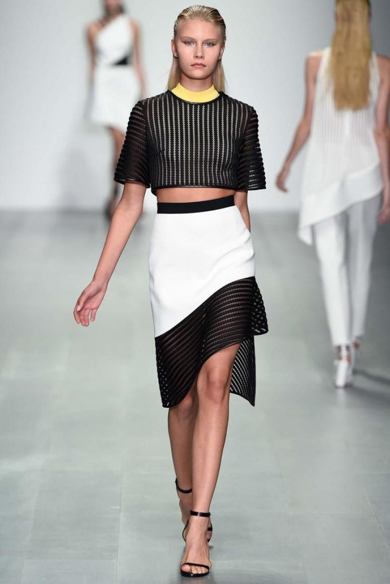 Асимметричная летняя юбка