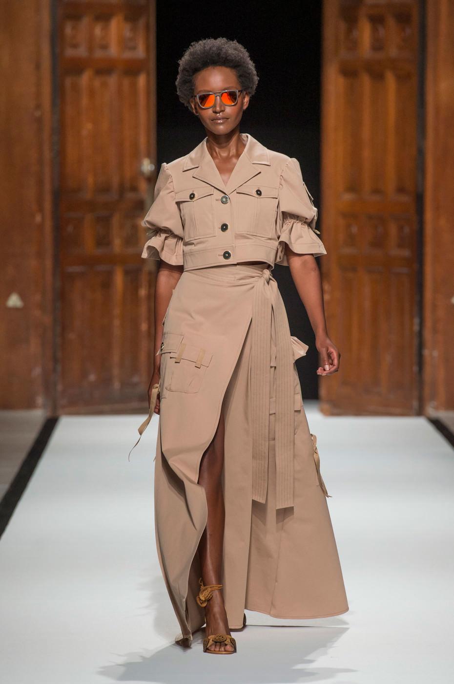 Модная асимметричная юбка макси