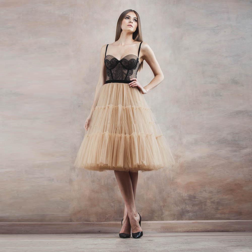 Пышная юбка из органзы