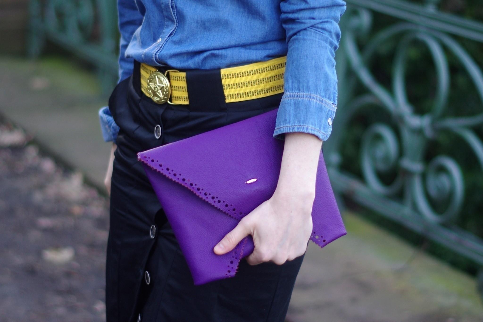 Модный клатч-конверт с перфорацией