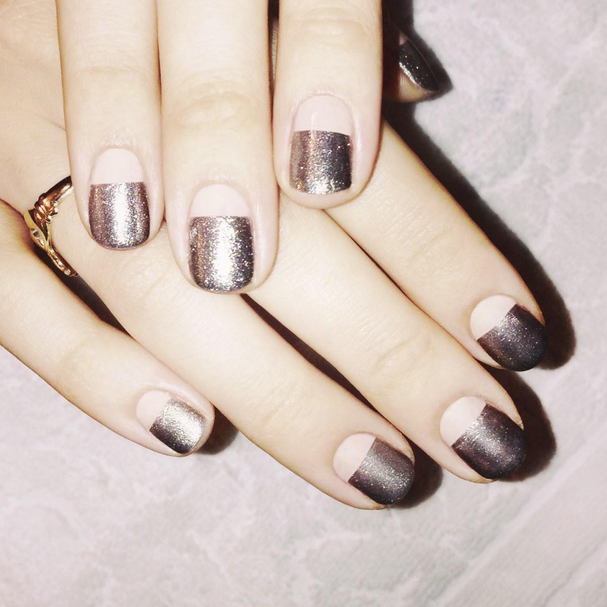 Перламутровый маникюр на короткие ногти фото дизайн