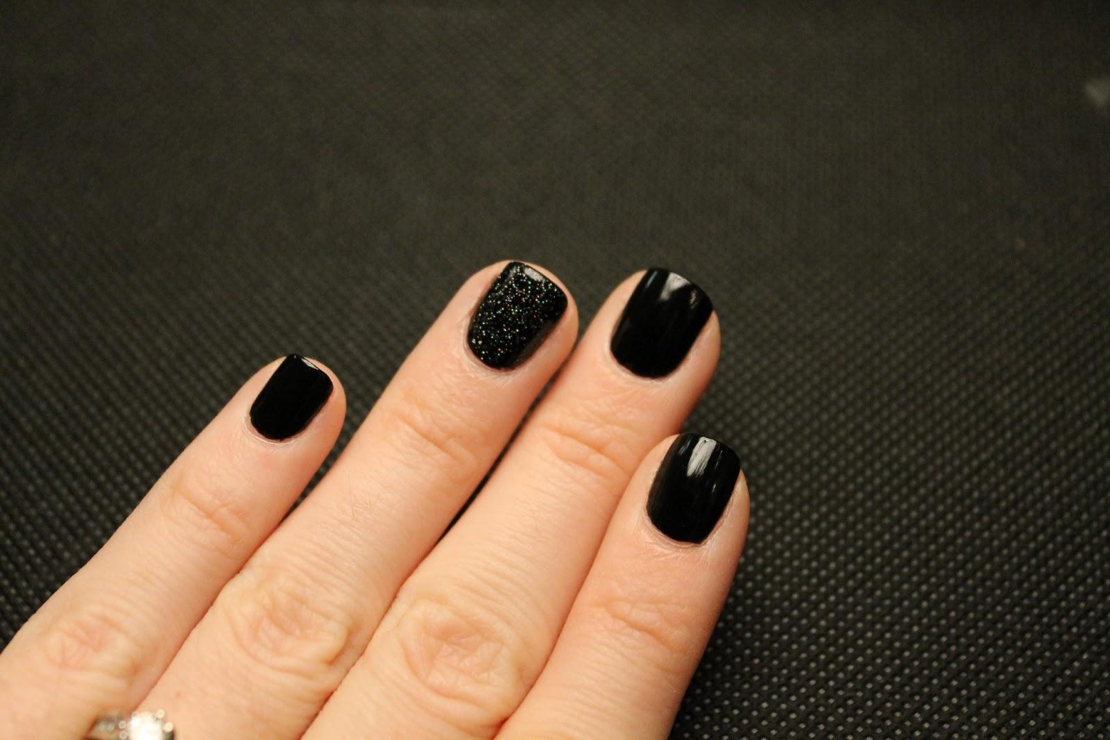 Черные короткие ногти фото дизайн