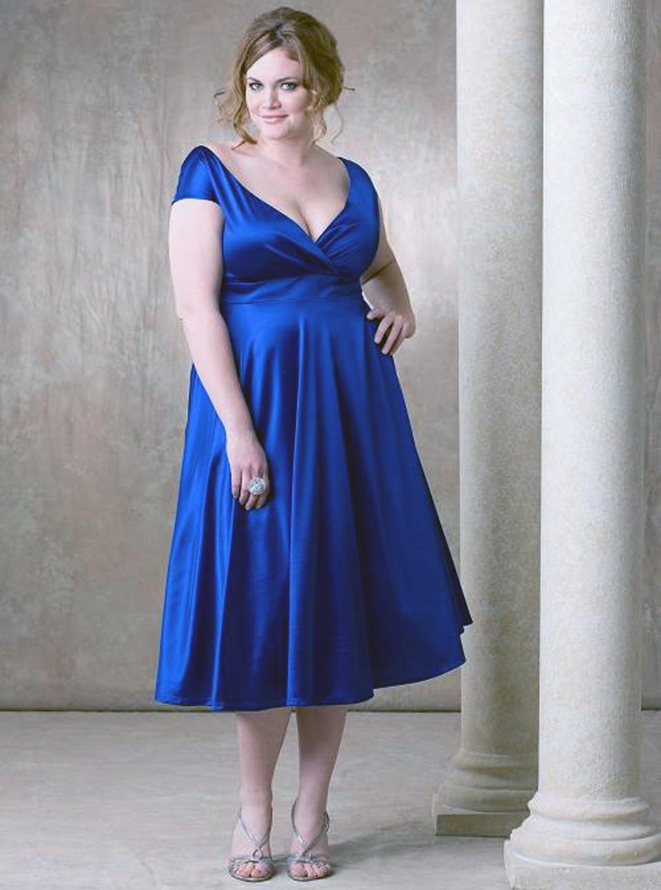 Модели вечерних платьев для полных девушек фото