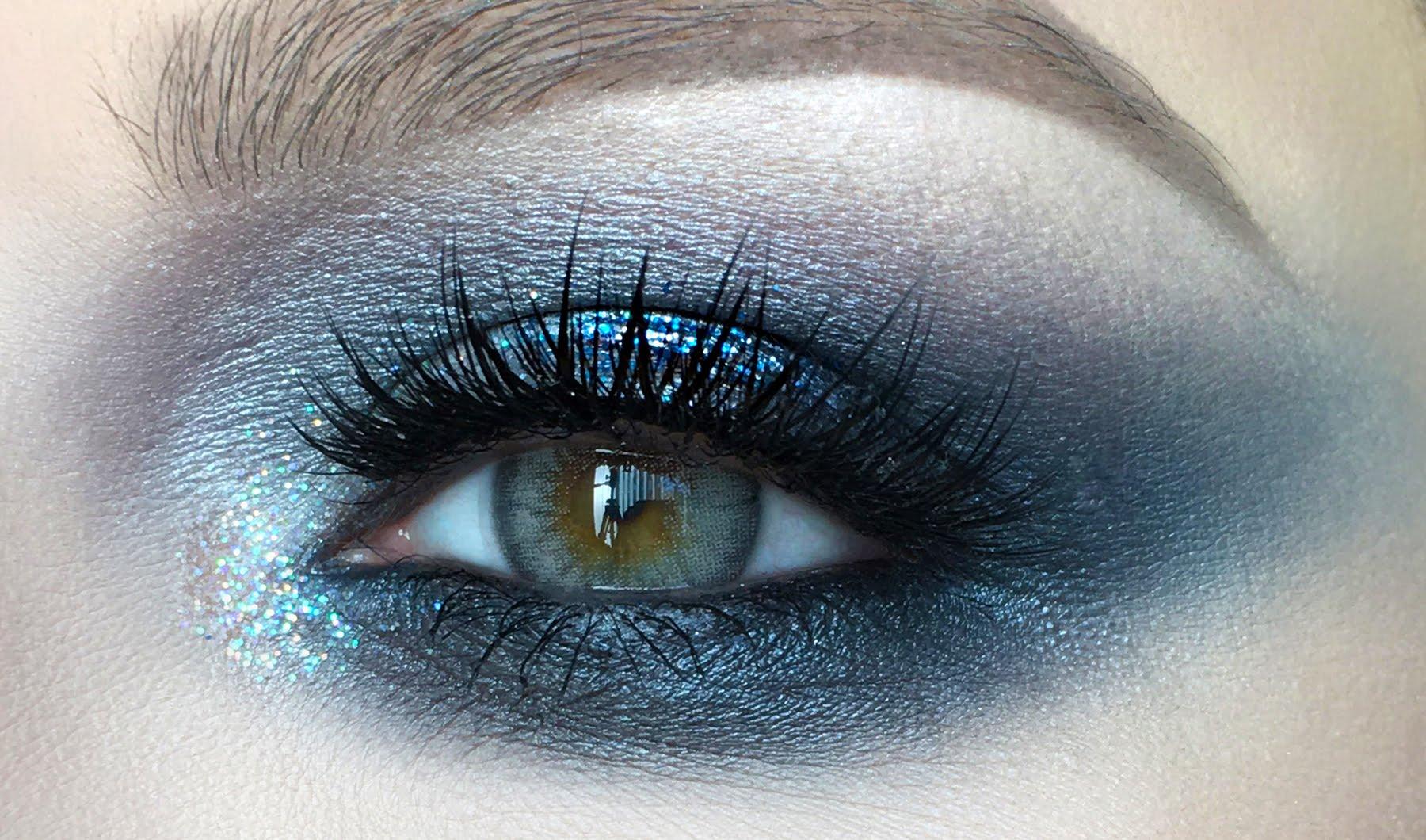 Макияж фото глаз для сероголубых