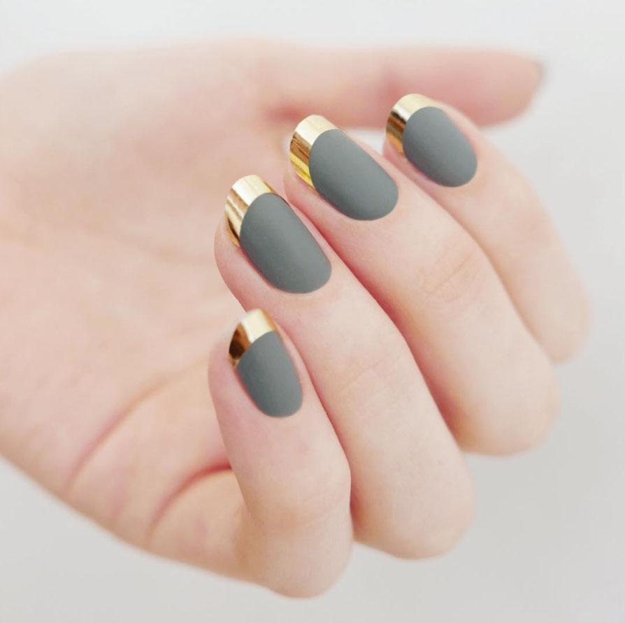 Маникюр матовый в домашних условиях на короткие ногти фото