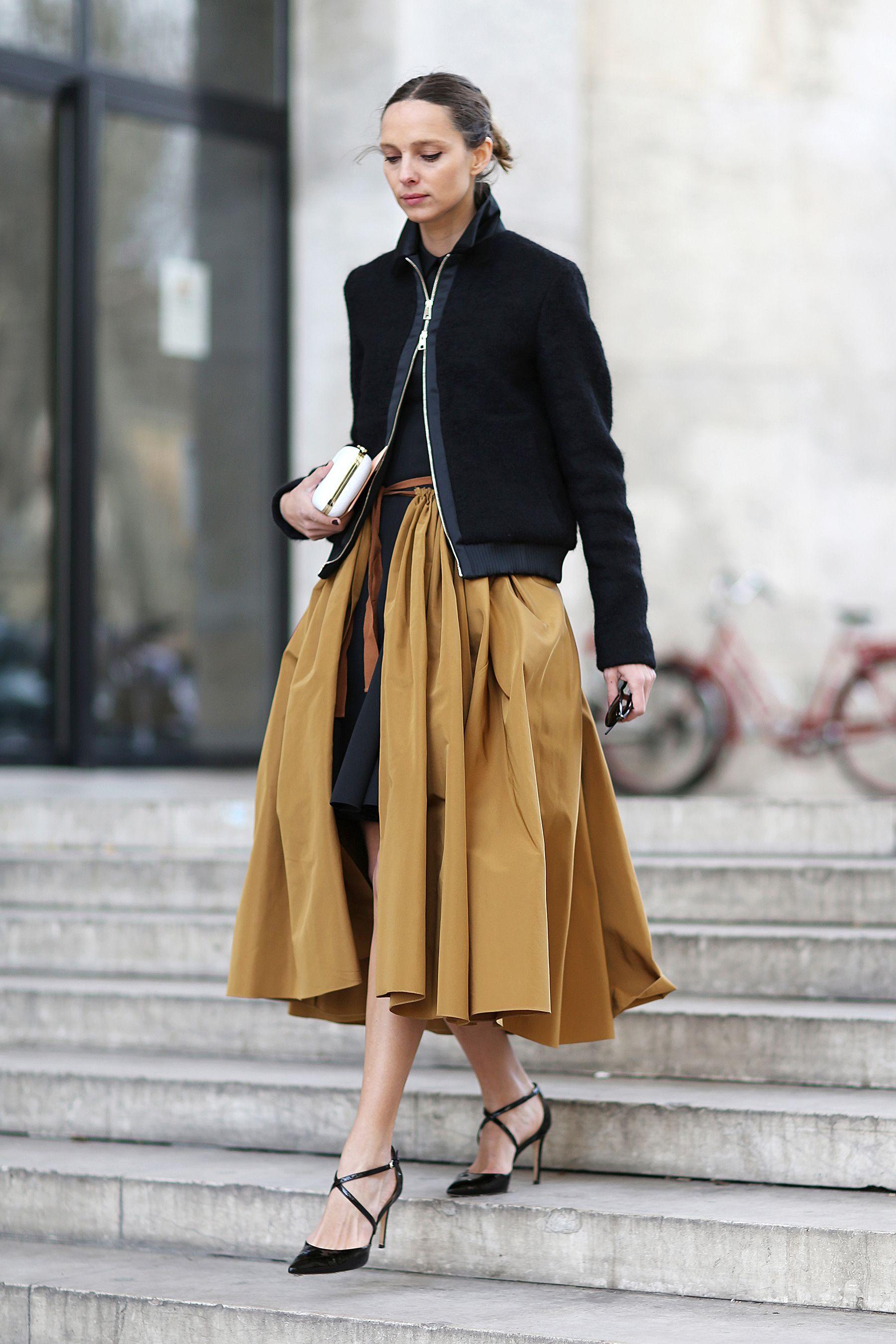 Midi skirts in winter