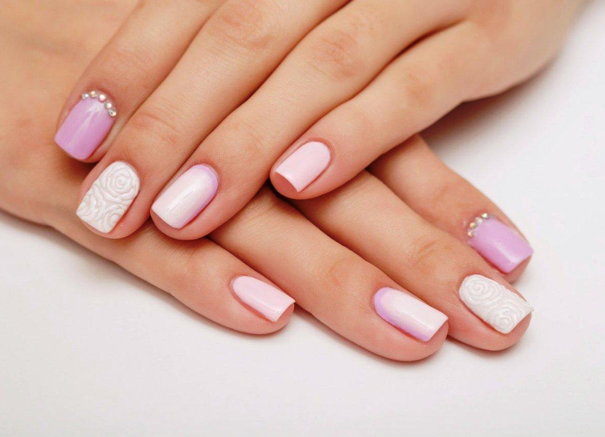 Варианты дизайна на коротких ногтях фото