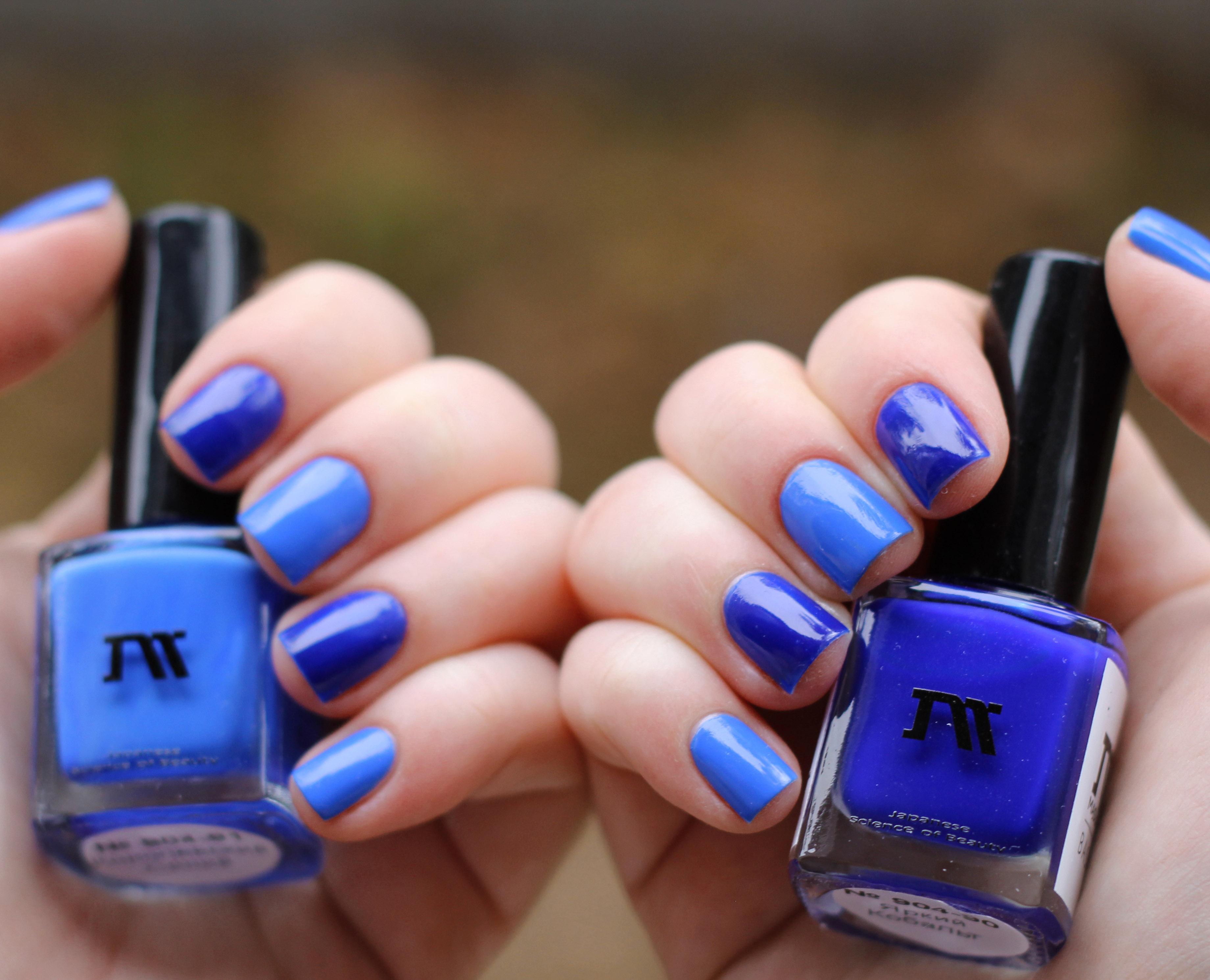 С чем сочетается синий на ногтях фото