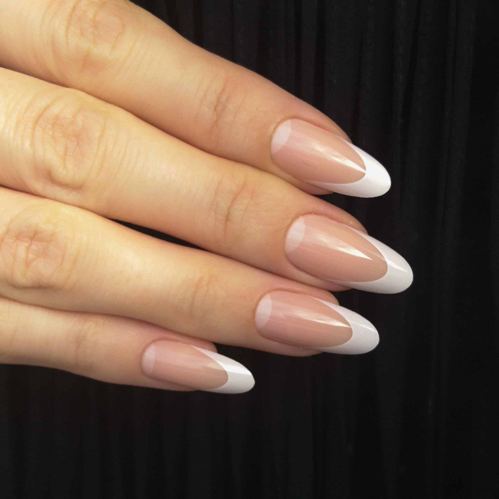 Акриловые ногти овальные фото