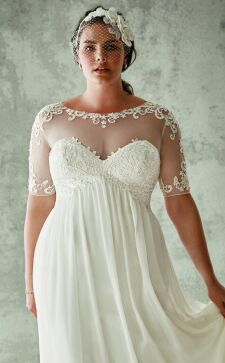 Свадебные платья для полных невест: интересные новинки модной индустрии