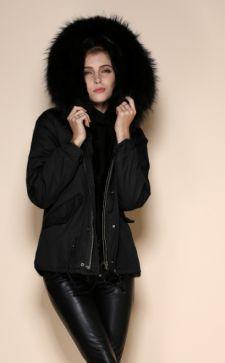 Черная женская парка с мехом: роскошное предложение для современных модниц