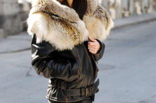 Кожаная куртка с мехом: популярные модели 2018 года