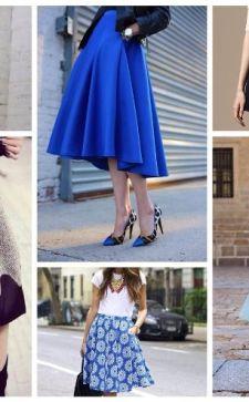 Юбка-клеш: особенности кроя, разновидности, с чем носить