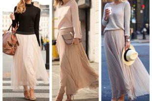 С чем носить шифоновую юбку: кеды или босоножки