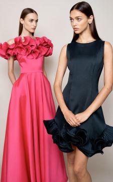 Платье с воланами на праздничный корпоратив: как выглядеть женственно и стильно