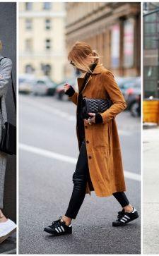 Пальто с кроссовками: что должна знать каждая девушка, чтобы выглядеть стильно