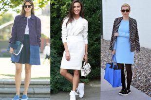Платье с кедами  —  как сочетать в 2019 году