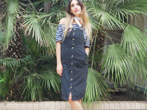 Идеальный джинсовый сарафан: образы на прогулку, праздник, работу