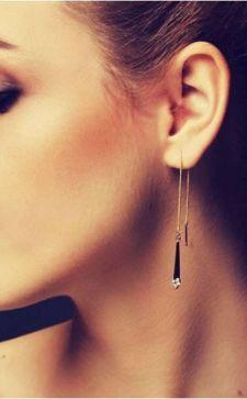 Стильные серьги-протяжки: создаем безупречный образ настоящей модницы