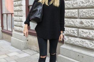 Черные женские джинсы: фасоны и модные тенденции