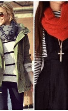 Как носить шарф с курткой: нестандартные идеи и популярные решения