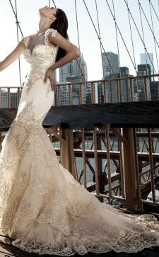 Свадебное платье-рыбка – изящное решение для торжественного дня