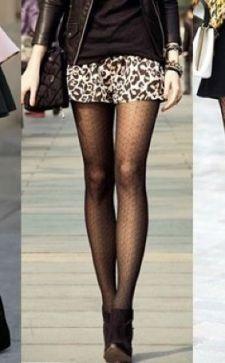 Черные колготки – важная деталь женского гардероба