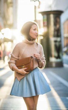Как носить свитер с юбкой: тонкости создания потрясающих образов