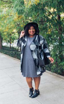 Кардиган для полных женщин: варианты стильных сочетаний