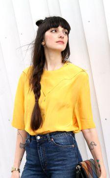 Желтая блузка для солнечного настроения