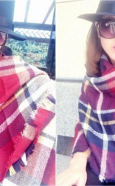 Как носить шарф-плед: эффектные варианты применения объемного аксессуара