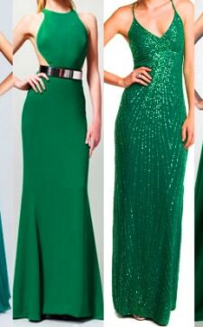 Изумрудное платье: с чем его носить