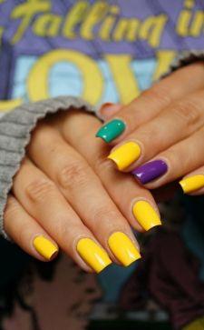 Желтый маникюр: идеи дизайна и цветовых сочетаний