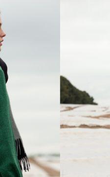 С чем носить зеленое пальто: подбираем шарф, шапку и обувь