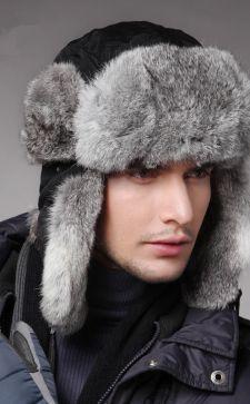 Стильные мужские меховые шапки-ушанки