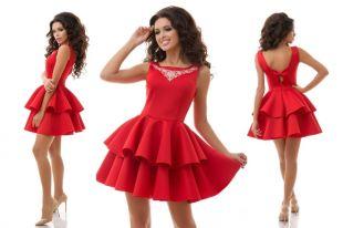 Платье с пышной юбкой: особенности,  модели и ткани