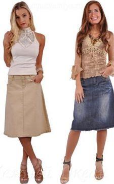 Джинсовая юбка-карандаш – актуальная модель делового и повседневного гардеробов