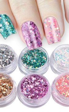 Мерцающие блестки для ногтей: создание феерического праздничного маникюра