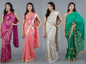 Национальные индийские костюмы, аксессуары и украшения