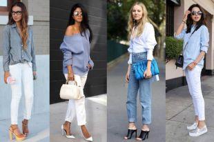 Светлые джинсы: модные композиции и эффектные образы