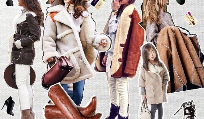 С чем носить короткую дубленку: модные сочетания