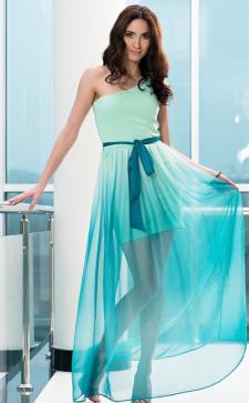 Бирюзовое платье: воплощение роскоши и аристократизма