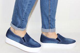 Женская джинсовая обувь: с чем носить туфли и кеды из денима