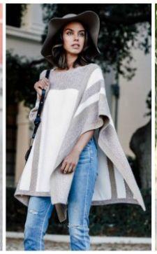 Как носить пончо: пошаговое составление модного образа
