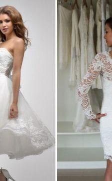 Короткие свадебные платья: нестандартные модели и традиционные фасоны